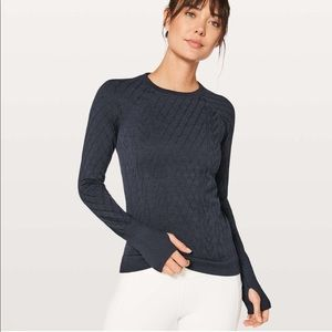 LULULEMON REST LESS PULLOVER NAVY